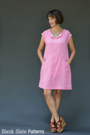 Rayon version - Leralynn Dress - by Blank Slate Patterns - Women's Shift Dress Sewing Pattern