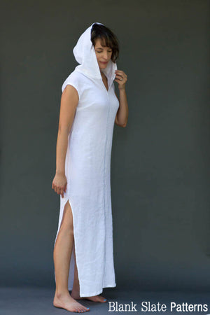 Hooded Version - Leralynn Dress - by Blank Slate Patterns - Women's Shift Dress Sewing Pattern