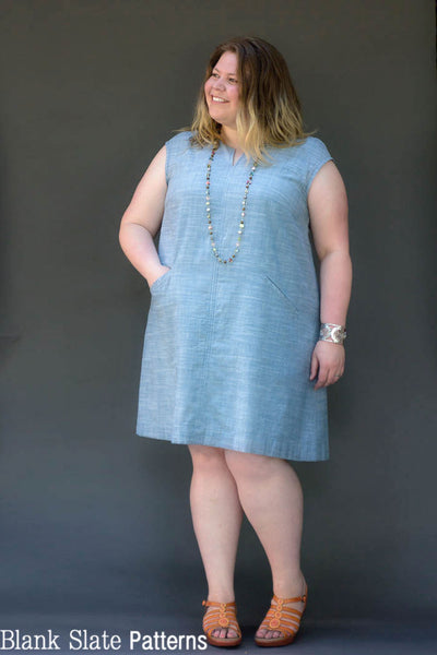 Love this! Plus size sewing patterns - Leralynn Dress - by Blank Slate Patterns - Women's Shift Dress Sewing Pattern