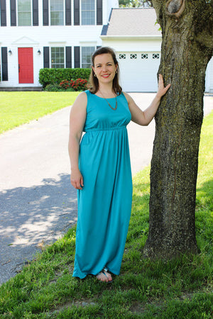 Catalina Dress Pattern by Blank Slate Patterns - Tank Maxi version