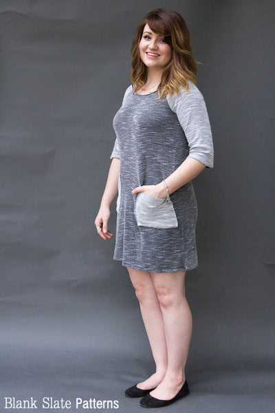 Rivage Raglan - women's raglan t-shirt, sweatshirt, and dress sewing pattern by Blank Slate Patterns. Looks like a comfy dress to throw on!