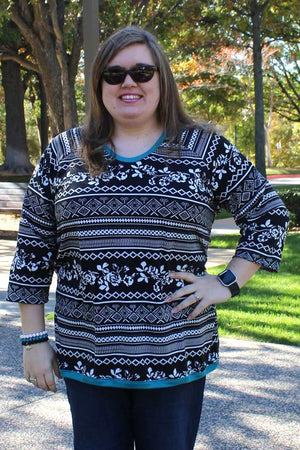 Tulip Top sweatshirt sewing pattern by Blank Slate Patterns