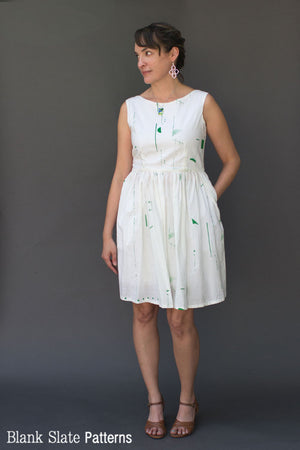 Sleeveless Fitted Dress Hack - Shoreline Boatneck pdf sewing pattern by Blank Slate Patterns