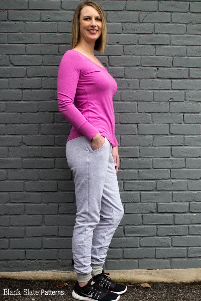 Skye Joggers Pattern - Womens Sweatpants Pattern - Sew Track Pants  - Blank Slate Patterns