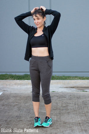 High waisted joggers - Skye Joggers Pattern - Womens Sweatpants Pattern - Sew Track Pants  - Blank Slate Patterns