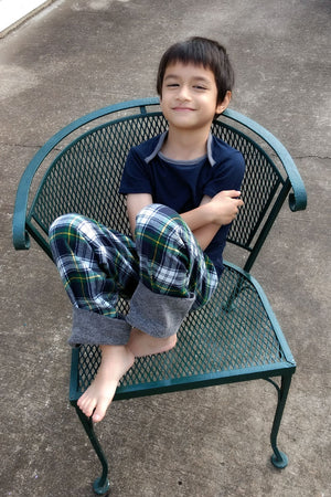 Short Sleeve Option - Snuggle Pajamas Sewing Pattern by Blank Slate Patterns for Babies, Boys and Girls