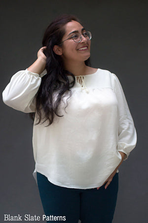 Valetta Top - Peasant Top Sewing Pattern by Blank Slate Patterns