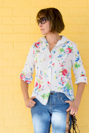 Novelista Shirt Sewing Pattern for Women - Button Up Shirt Sewing Pattern by Blank Slate Patterns
