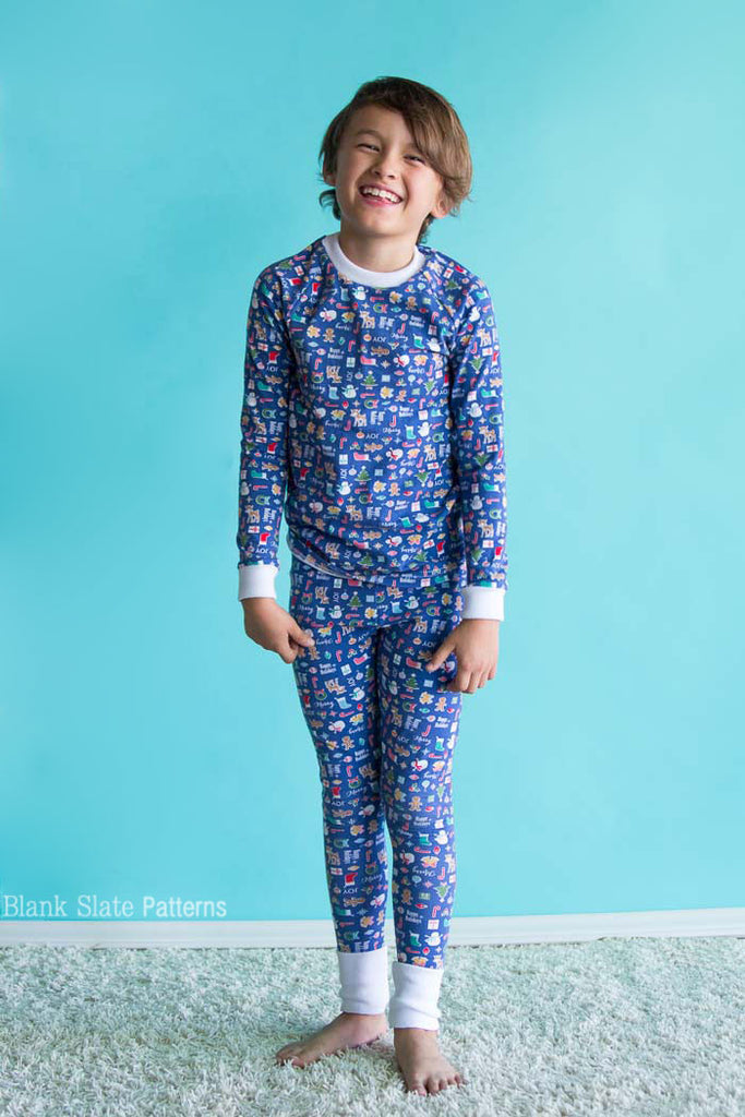 Dreamtime Jammies - Kids Pajama Pattern from Blank Slate Patterns - Holiday Pjs