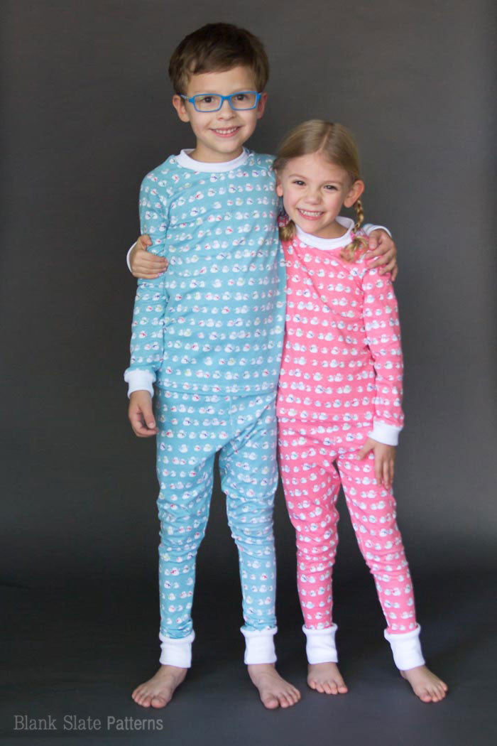 Dreamtime Jammies - Kids Pajama Pattern from Blank Slate Patterns - sew matching Christmas pajamas