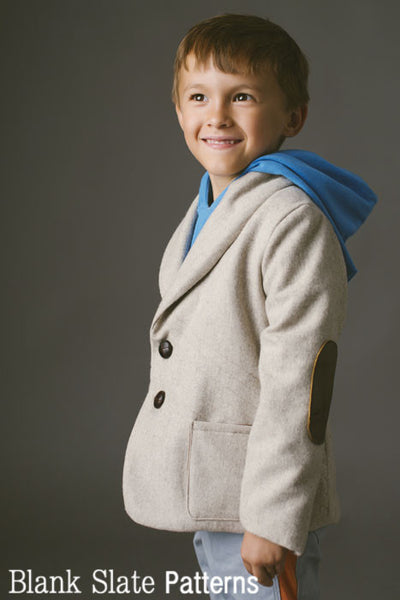High fashion for boys - Berkshire Blazer PDF Sewing Pattern by Blank Slate Patterns