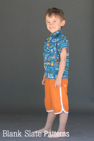 Big Island Board Shorts PDF SEwing Pattern by Blank Slate Patterns