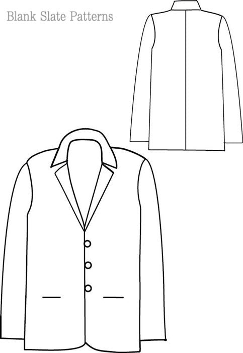 Basic Blazer Sewing Pattern Blank Slate Patterns Magnificent Blazer Pattern