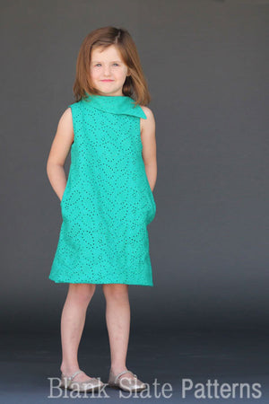 Fresh Bloom Frock pdf sewing pattern from Blank Slate Patterns