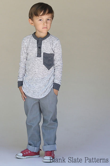 Hipster Henley pdf sewing pattern from Blank Slate Patterns