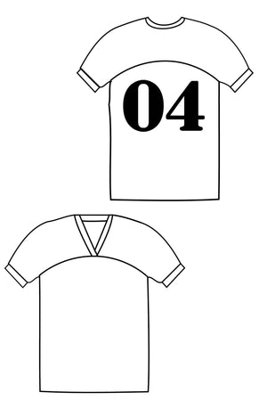 Just a Jersey Tee pdf sewing pattern by Blank Slate Patterns line drawing