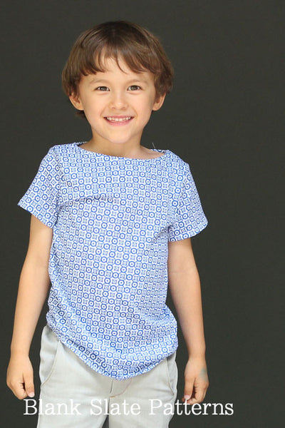 Beachy Boatneck PDF Sewing Pattern for Boys and Girls