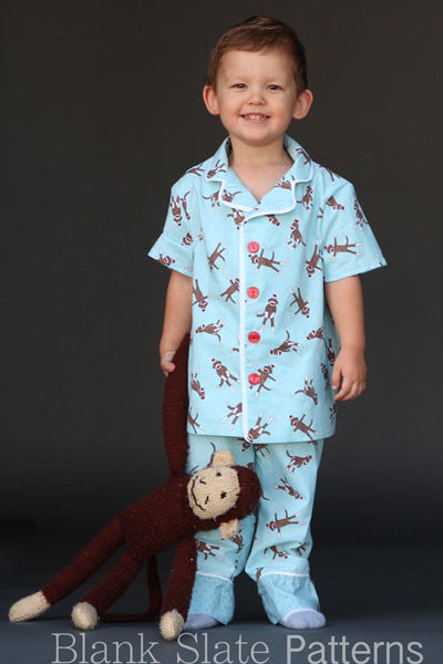 Lazy Day Pajamas pdf sewing pattern by Blank Slate Patterns