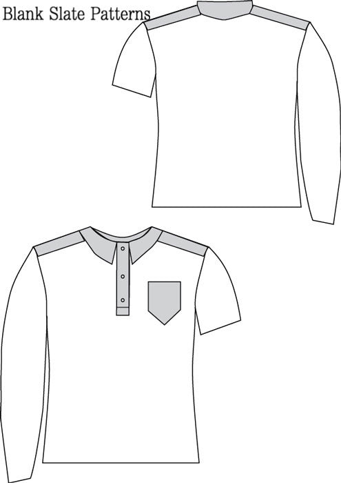 Perfect Polo pdf sewing pattern by Blank Slate Patterns line drawing
