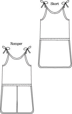 Retro Romper pdf sewing pattern by Blank Slate Patterns line drawing