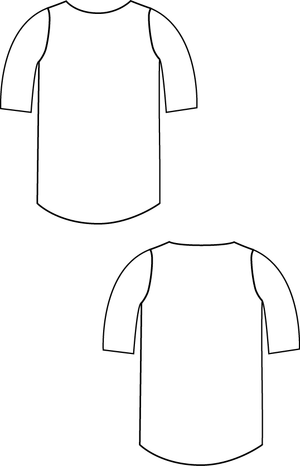 Beachy Boatneck PDF Sewing Pattern for Boys and Girls line drawing
