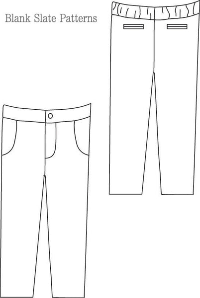 Blank Slate Patterns Clean Slate Pants/Capris/Shorts pdf pattern line drawing
