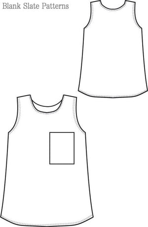 Blank Slate Basics Blank Tank pdf sewing pattern line drawing