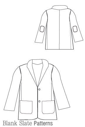 High fashion for boys - Berkshire Blazer PDF Sewing Pattern by Blank Slate Patterns line drawing