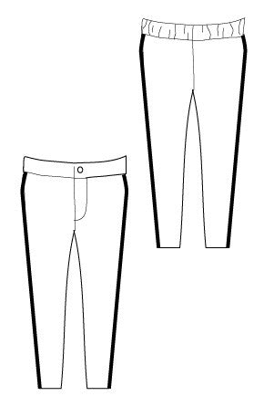 Super Skinny Pants pdf sewing pattern by Blank Slate Patterns line drawing