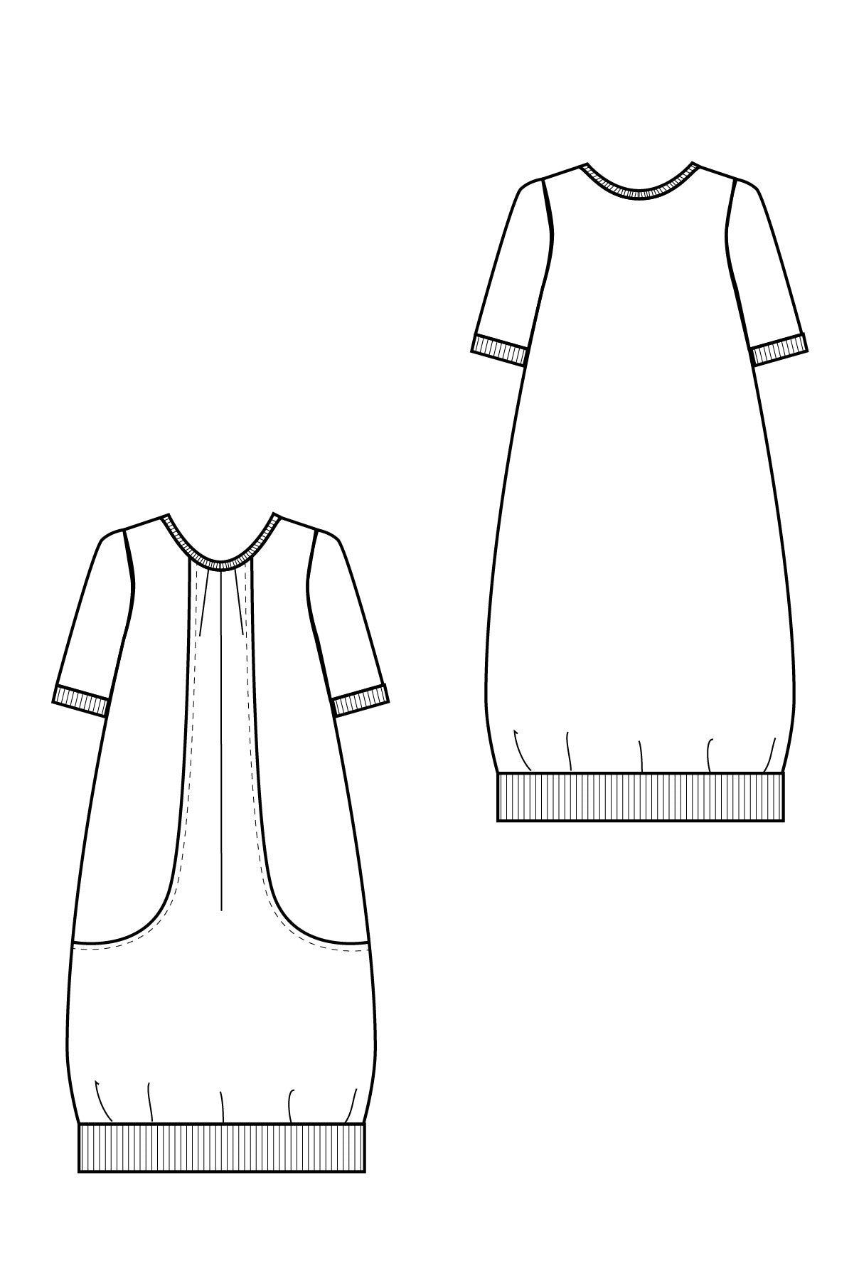 Pocket Full of Posies Dress Sewing Pattern for Women's