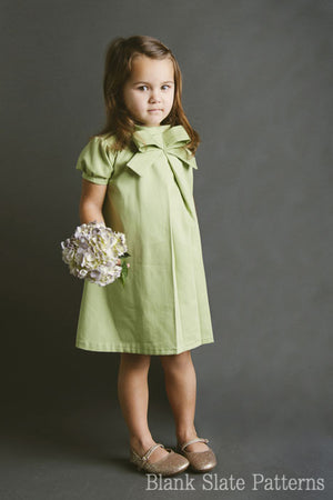 Little Bow Pleat pdf sewing pattern by Blank Slate Patterns