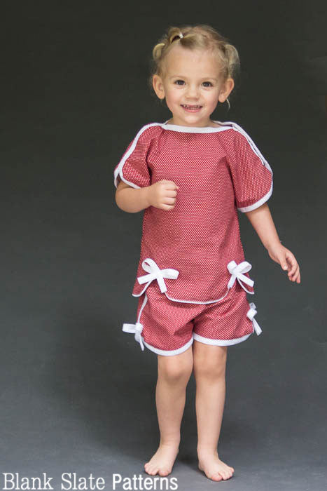 Sweet Pea Pajamas sewing pattern from blankslatepatterns.com