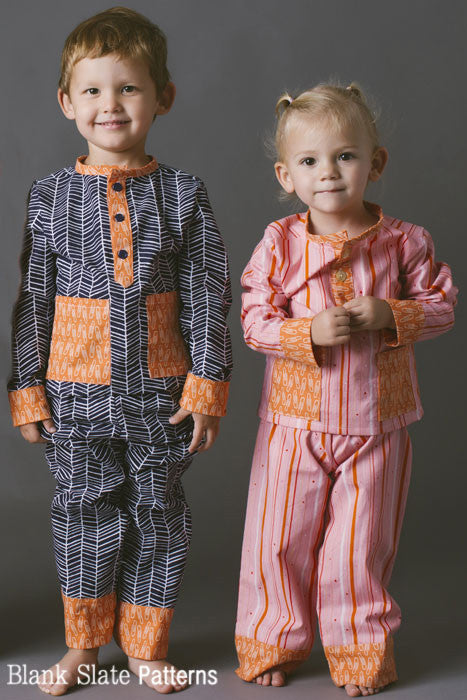 Pocket PJs pdf sewing pattern by Blank Slate Patterns