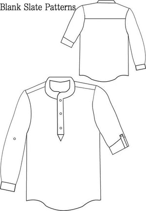 Prepster Pullover pdf sewing pattern by Blank Slate Patterns line drawing