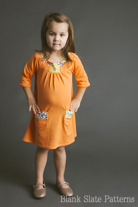Pristine Swing Dress pdf sewing pattern by Blank Slate Patterns