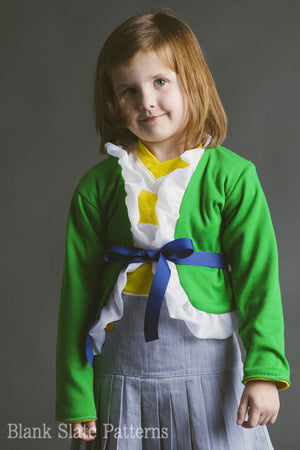 Ruffled Cardigan pdf sewing pattern by Blank Slate Patterns