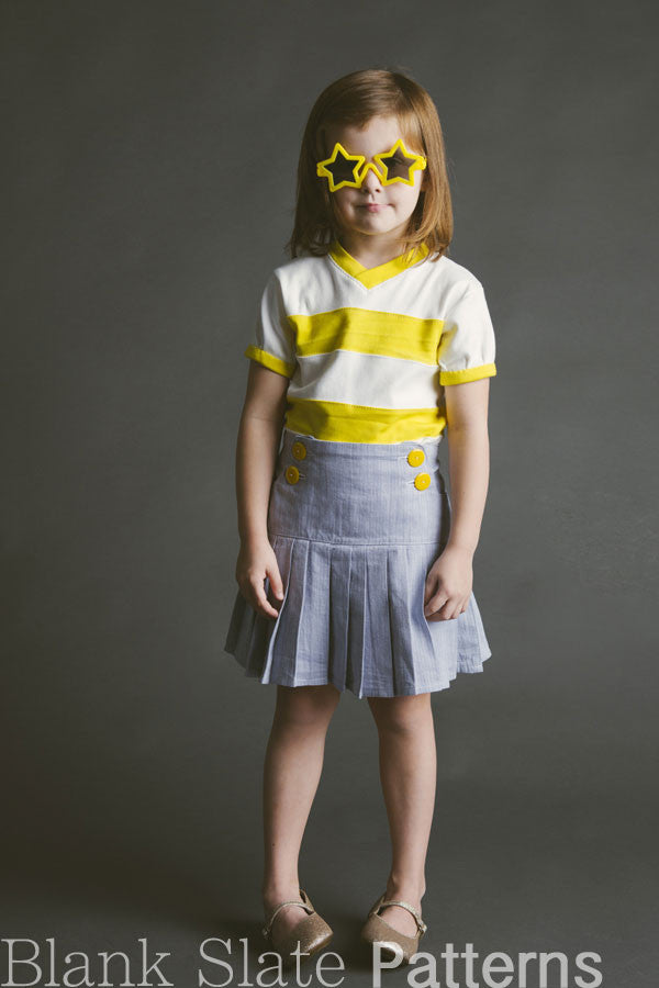 Schoolday Skirt pdf sewing pattern by Blank Slate Patterns