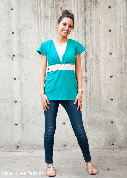Wildflower Top pdf sewing pattern by Blank Slate Patterns