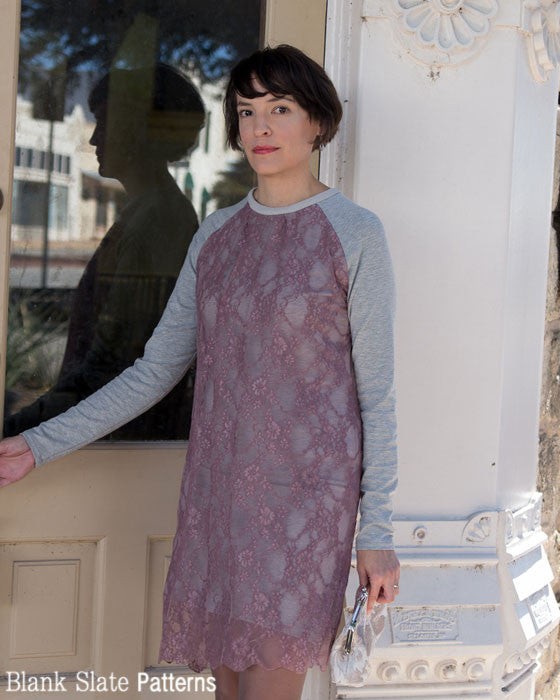 Wintersong Dress sewing pattern - lace dress - by Blank Slate Patterns