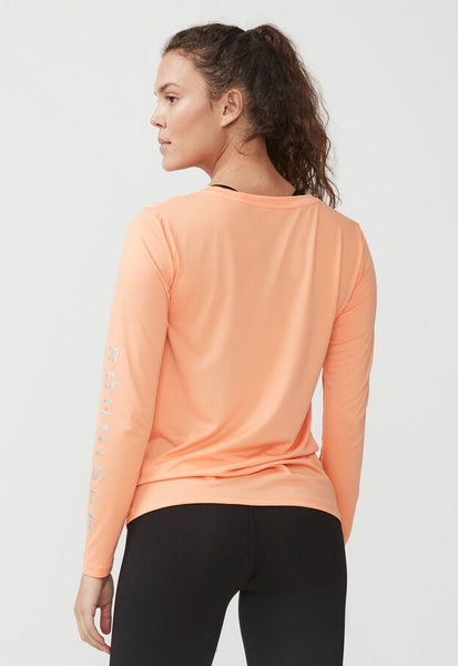 Trainingshirt met Knot roze peach