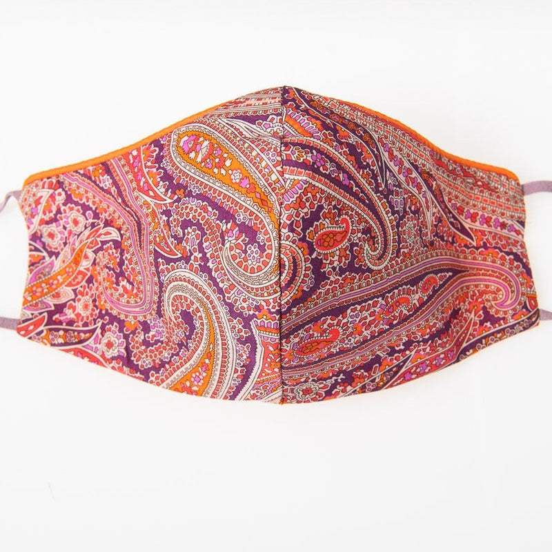 Exquisite Liberty Pink Paisley Park Print Face Mask