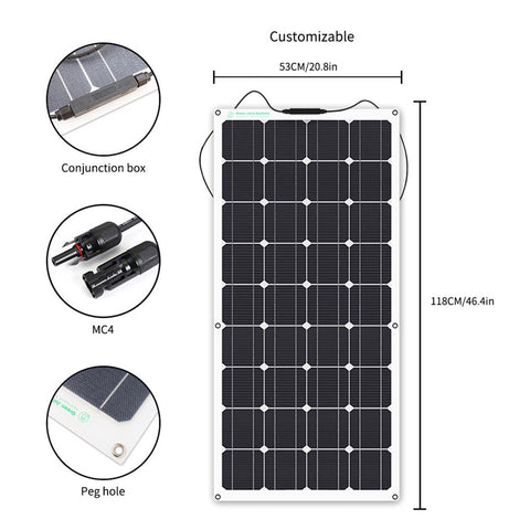 100w Solar Panel with ETFE