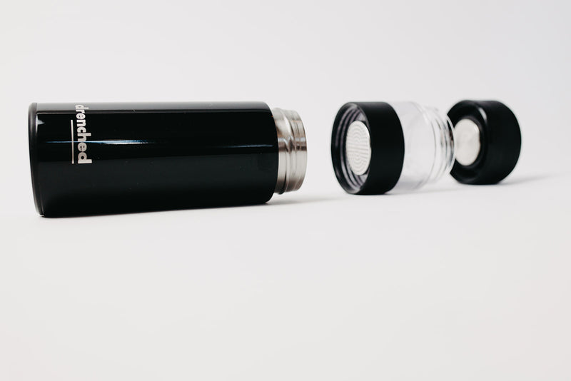 drenched - Reusable Smart Infuser Bottle (black x satin limited edition)