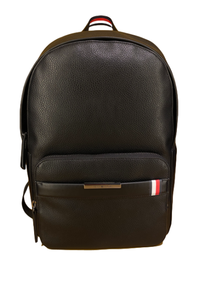 Tommy Hilfigher Μαύρο Δερμάτινο Backpack TH Downtown - AM0AM05236 BDS