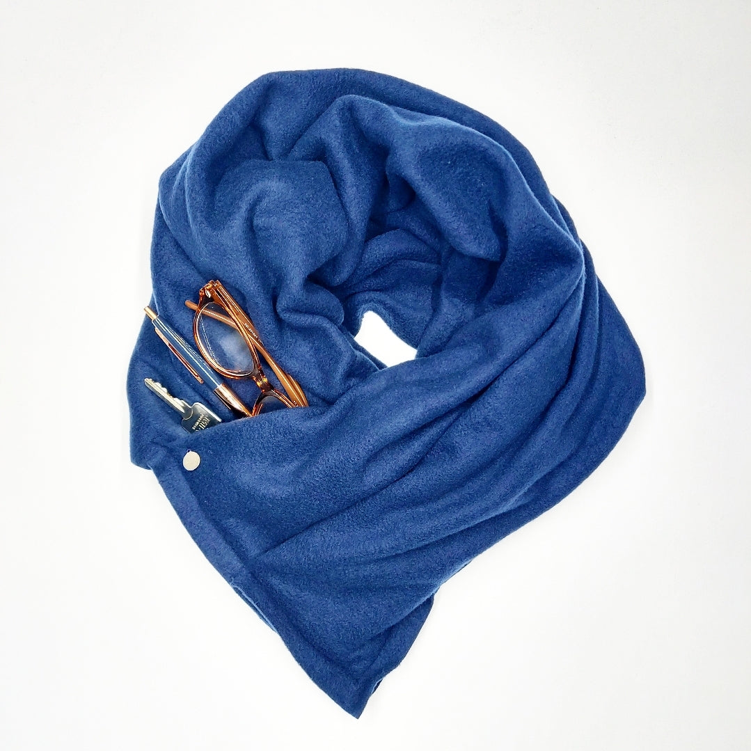 Polar Fleece Pocket Scarf