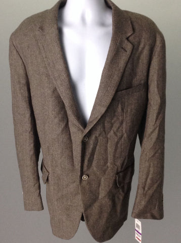 Brown Patched Elbows 2-Button Blazer, Size: 41.0R