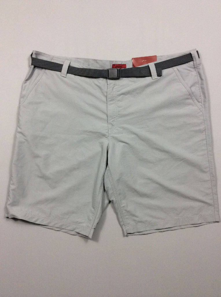 Gray Plain Casual Shorts, Size: 42 R