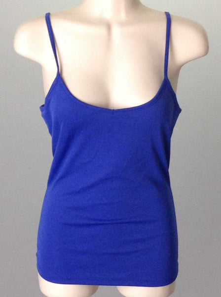Blue Plain Camisole, Size: Small