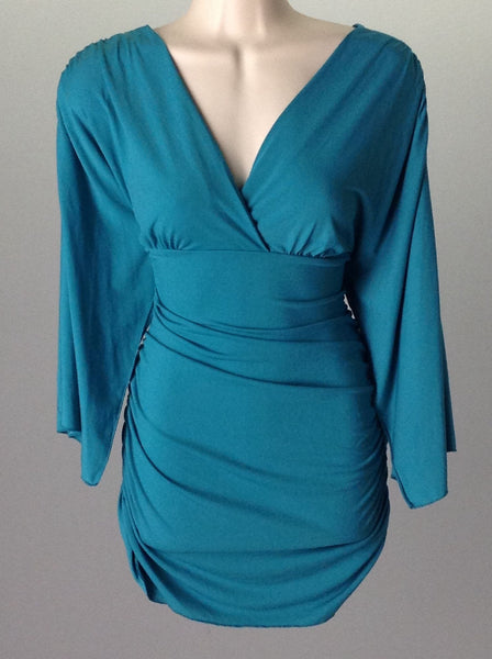 Blue Sexy Casual Club Dress, Size: Small