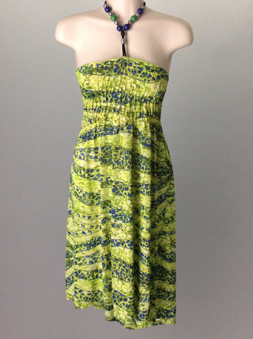 Green Beaded Casual Sun Dress, Size: 3X-Large